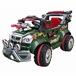 Ride On Jeep Combat Style 6V Electric Chldrens Ride On With Parental remote Control Sale Now On Only £99.00 With Free Delivery