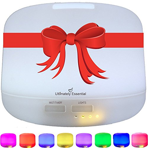 Ultimately Essential Oil Diffuser -Ultrasonic Aromatherapy 300 ml Cool Mist Ionizer Multiple LED Lights, Covers Large Area with Wondrous Aroma! Download FREE Essential Oils Handbook w/Blending Recipes (Aroma Essentials Book compare prices)
