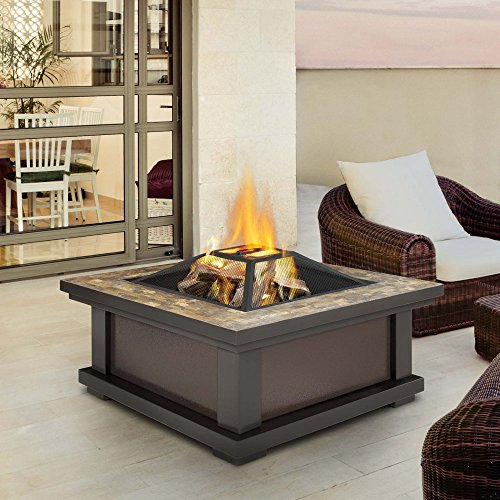 Real-Flame-910-BK-Alderwood-Burning-Fire-Pit