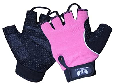 BOOM Pro Ladies GEL Cycling Gloves.Fitness,Gym Gloves,Weight Lifting,Wheel Chair Glove (FREE UK SHIPPING) by BOOM Pro