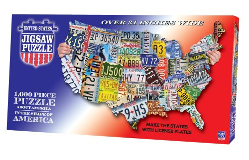 Cheap Fun TDC games USA Shaped State – License Plates puzzle (B001CUWUO6)