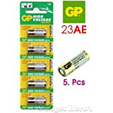 Gadget Hero's 23AE GP Battery 5 Pieces Pack. 12V Alkaline Battery.