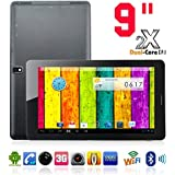Kool(TM) Black 9 Inch Tablet Dual Core Android 4.2 AllWinner A23 ARM Cortex A7 1.5GHZ CPU Mali-400 MP GPU Wifi Function, Dual-Screen Display, Dual Camera Dual SIM PC Phone Mobile Tablet Supports Supports YouTube, NetFlix, Skype, BBC iPlayer, Games