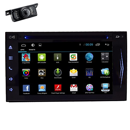 Android 4.4 OS schermo di tocco capacitivo GPS Navi Mappa Multimedia Video ricevitore universale Autoradio 2 DIN Car DVD Player CD MP4 audio sistema stereo Accessorio per veicoli autoradio FM AM specchio collegamento fotocamera Wi-Fi HD