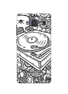 Gobzu Printed Hard Case Back Cover for Xiaomi Redmi 2 / Redmi 2 Prime - Record Player