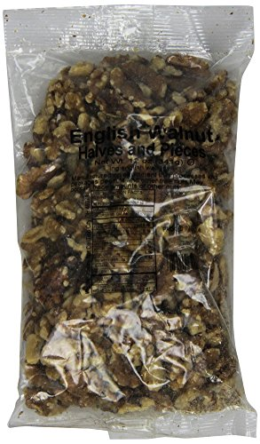 Trophy Nut Raw English Walnut Halves & Pieces, 12-Ounce Bags (Pack of 4)