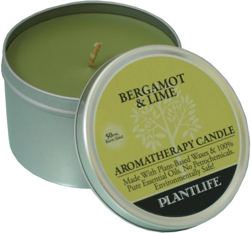 Bergamot & Lime Aromatherapy Candle- Made with 100% Pure Essential Oils - 6oz Tin