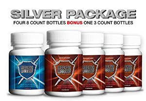Weekend Warrior All Natural Male Enhancement Pill SILVER PACKAGE – FOUR 8 Count Bottles BONUS One 3 Count Bottle – TOTAL