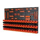 81 tlg Wandregal Regal InBox Gr.1 schwarz orange Werkstatt Lochwand
