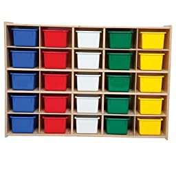 Contender C16001F 25 Tray Storage w/Translucent Trays, Assembled