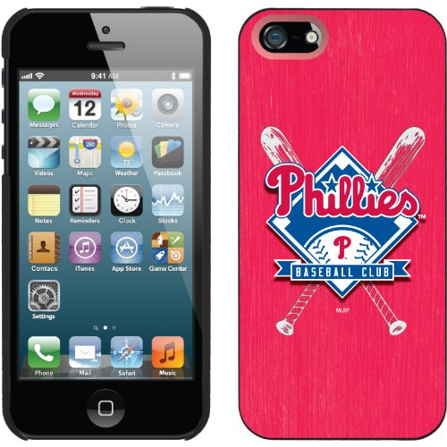 Best Price Philadelphia Phillies - Bats design on a Black iPhone 5 Thinshield Snap-On Case by Coveroo