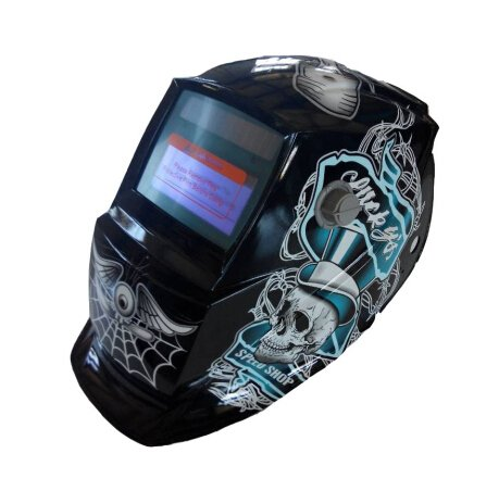 2014 Cool Skull Solar Powered Auto-Darkening Welding & Grinding Helmet Hood Protection Mask, Battery And Solar Combo, Ce Approved front-6840