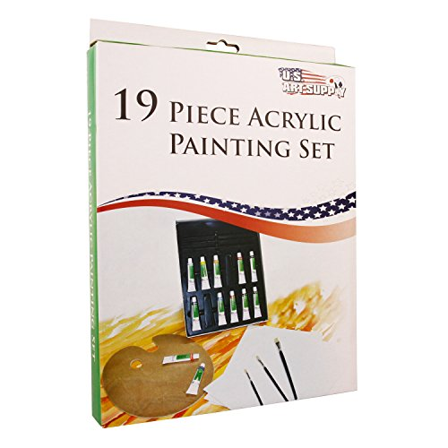 Art supply acrylic painting kits drawing set crafts canvas for Acrylic mural paint supplies