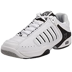 B002LH5Y74 - K-Swiss Defier RS, Chaussures tennis terrain dur homme - Blanc/Noir, 39.5 EU