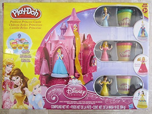 Hasbro Play Doh Disney Prettiest Princess Castle With Sparkle Compound Play Doh