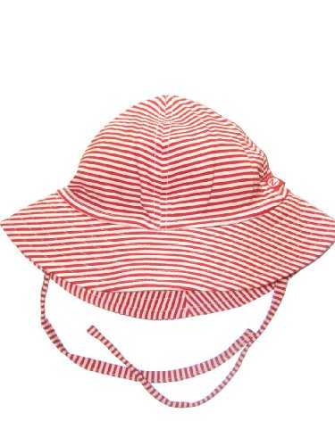 Candy Striped Sun Hat by Zutano - Red - 6-12