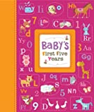 Cute Animals Baby Girl - Baby's First Five Years Keepsake Record Book with Storage Box