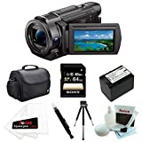 Sony FDR-AX33 4K Camcorder with 64GB Deluxe Accessory Bundle