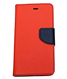 Novo Style Fancy Diary Wallet Flip Cover For Micromax A106Unite 2 - Red