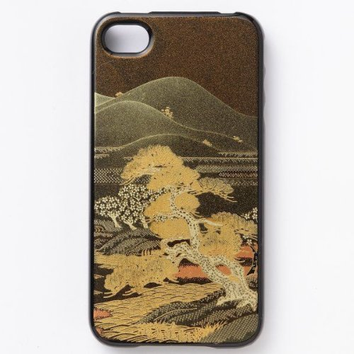 iPhone5S hard case Japanese style lacquered lacquer landscape...