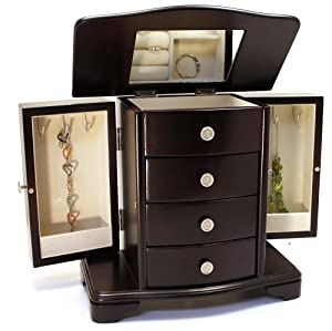 Classic Wooden Jewelry Box Finish: Espresso