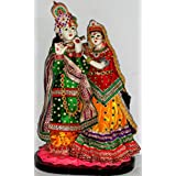 Paras Magic Marble Radha Krishna RK6 Idol (Standard,Multicolor)