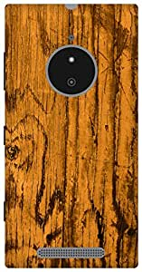 The Racoon Lean vintage wood yellow hard plastic printed back case / cover for Nokia Lumia 830