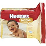 Huggies Soft Skin Baby Wipes, Refill, 552 Total Wipes 184-Count Pack (Pack of 3), Packaging may vary
