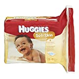 Huggies Soft Skin Baby Wipes, Refill, 552 Total Wipes 184-Count Pack (Pack Of 3)