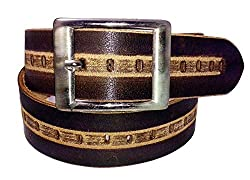 SANSHUL MEN BELT (SA-36 BROWN 30-42 INCH)