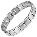 Willis Judd Mens Titanium Magnetic Bracelet In Black Velvet Gift Box + Free Link Removal Toolby Willis Judd