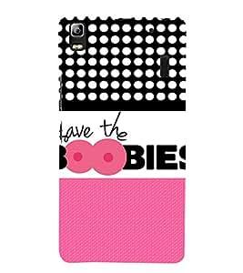 Save The Boobies 3D Hard Polycarbonate Designer Back Case Cover for Lenovo A7000