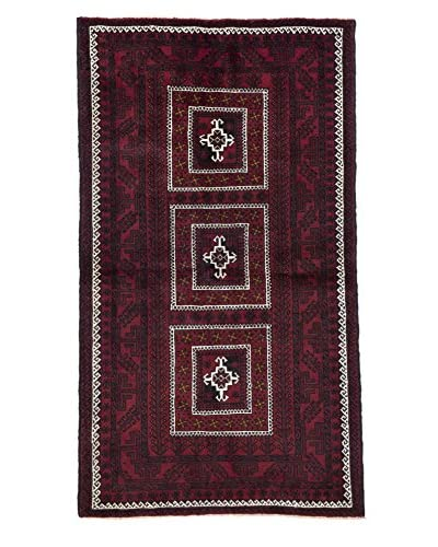 Darya Rugs Authentic Persian Tribal Rug, Red, 3' 8 x 6' 7