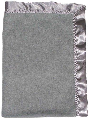 Raindrops Fleece Unisex Crib Blanket, Gray Heather