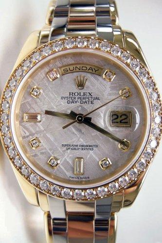 Rolex Day-Date Masterpiece Tri-Color Gold Watch, Meteorite Diamond Dial