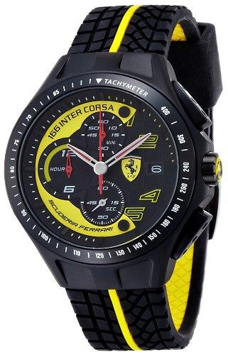 Ferrari Scuderia  830078 - Reloj de cuarzo para hombre, con correa de plástico, color negro