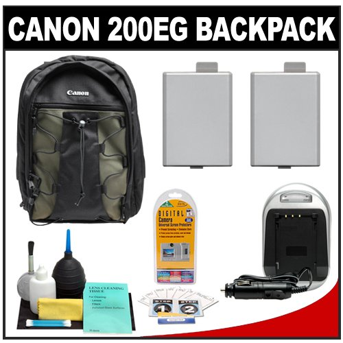 51qNt0Y6QtL Canon 200EG Deluxe Digital SLR Camera Backpack Case + Tripod + LP E5 Battery + Accessory Kit for Canon EOS Rebel XS, XSi, T1i
