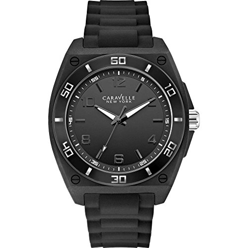 Caravelle New York Black & White Mens Watch 43A127