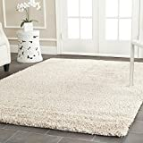 "Safavieh California Shag Collection SG151-1313 Beige Area Rug, 5 feet 3 inches by 7 feet 6 inches (5'3"" x 7'6"")"