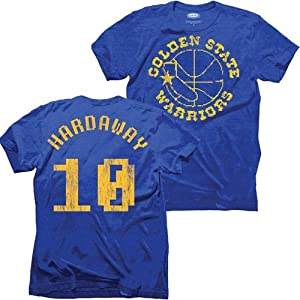 Golden State Warriors NBA Tim Hardaway #10 8-Bit Name & Number T-Shirt L by Majestic Threads