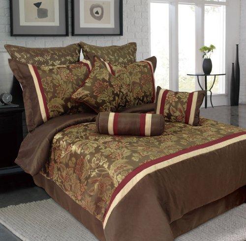 13 Piece Queen Senole Jacquard Bedding Bed In A Bag W/500Tc Cotton Sheet Set front-994924