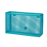Wire Mesh Storage Bin - Turquoise