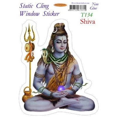 Shiva Static Cling Window Stickers