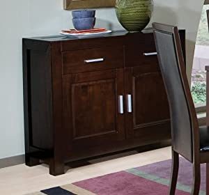 Cappuccino Finish Server by Coaster Furniture