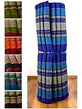 Kapok Liegematte in 200cm x 110cm x 4,5cm; Rollmatte bzw. Yogamatte, Thaimatte, Thaikissen als asiatische Rollmatratze