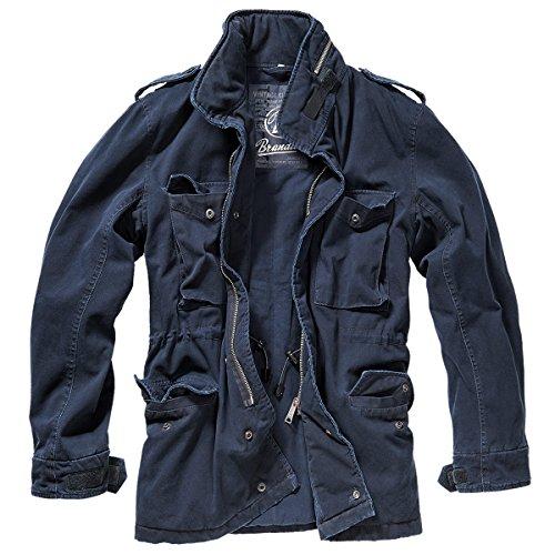 Brandit -  Cappotto  - Parka - Basic - Maniche lunghe  - Uomo blu navy Large