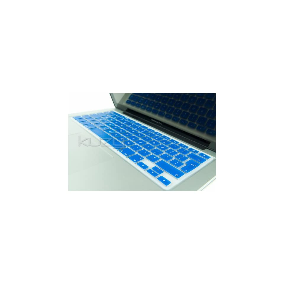 Kuzy®   EU/UK BLUE Keyboard Silicone Cover Skin for Macbook / Macbook Pro 13 15 17 Aluminum Unibody / Macbook Air 13 (European/ISO Keyboard Layout)