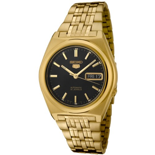 Seiko Men's SNK644 Gold Stainless-Steel Automatic Watch with Black Dial
