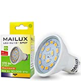 MAILUX GU10 LED Spot | Strahler | 5 Watt | 370 Lumen | 15x SMD (5630) | warmweiß 2700K | Abstrahlwinkel 110° | neu OVP