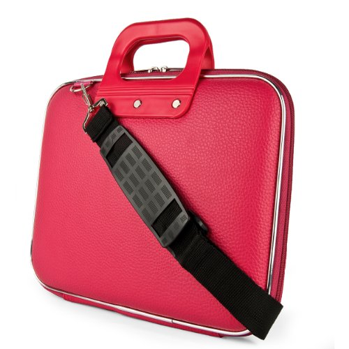 SumacLife Cady Chrestomathy Durable Semi Hard Shell Protective Carrying Case w/ Removable Thrust aside Strap (Pink) for Sony VAIO Duo 11 Touch Ultrabook / Sony VAIO E Series 11 Laptop / Sony VAIO Pro 11 Have to do with 11.6 inch Ultrabook Laptops